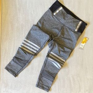 C & C CALIFORNIA Gray Reflective Stripe Leggings
